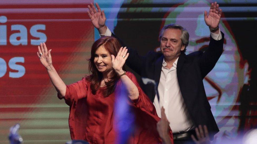Cristina Fernández y Alberto Fernández.