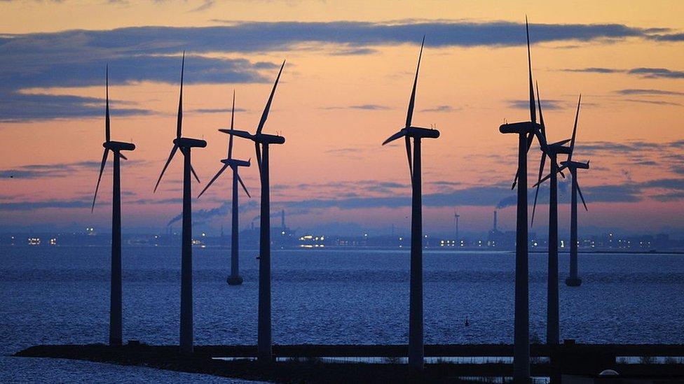 Copenhagen wind turbines