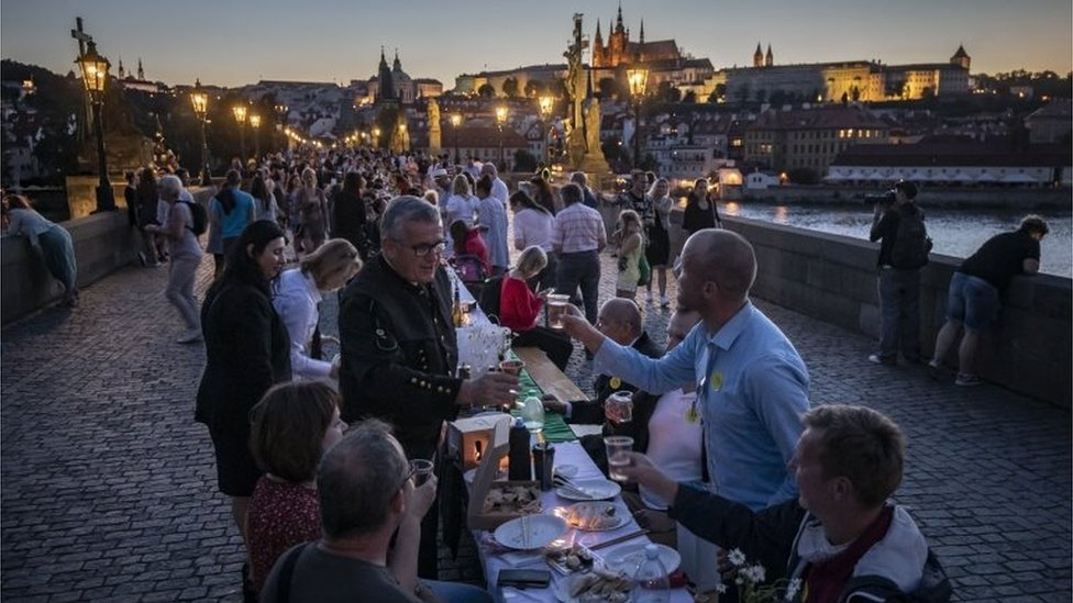 Una celebración en Praga