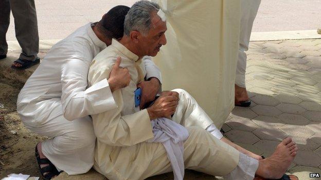 Injured man in Kuwait City