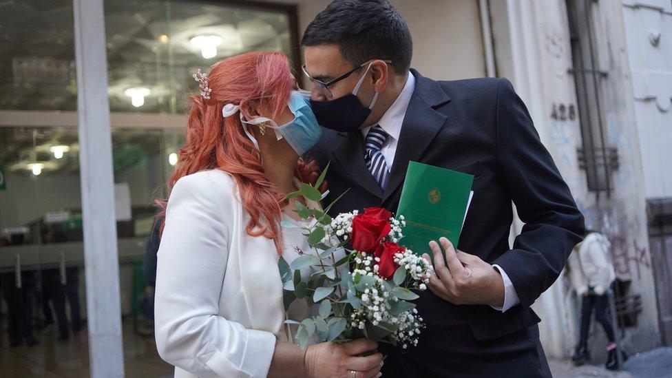 Casamiento en Uruguay.