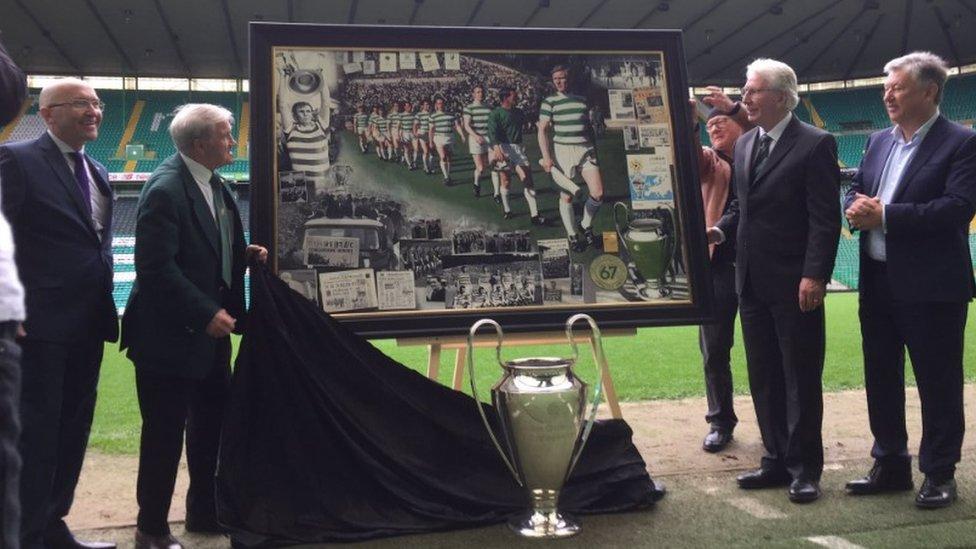 Lisbon Lions painting unveiled