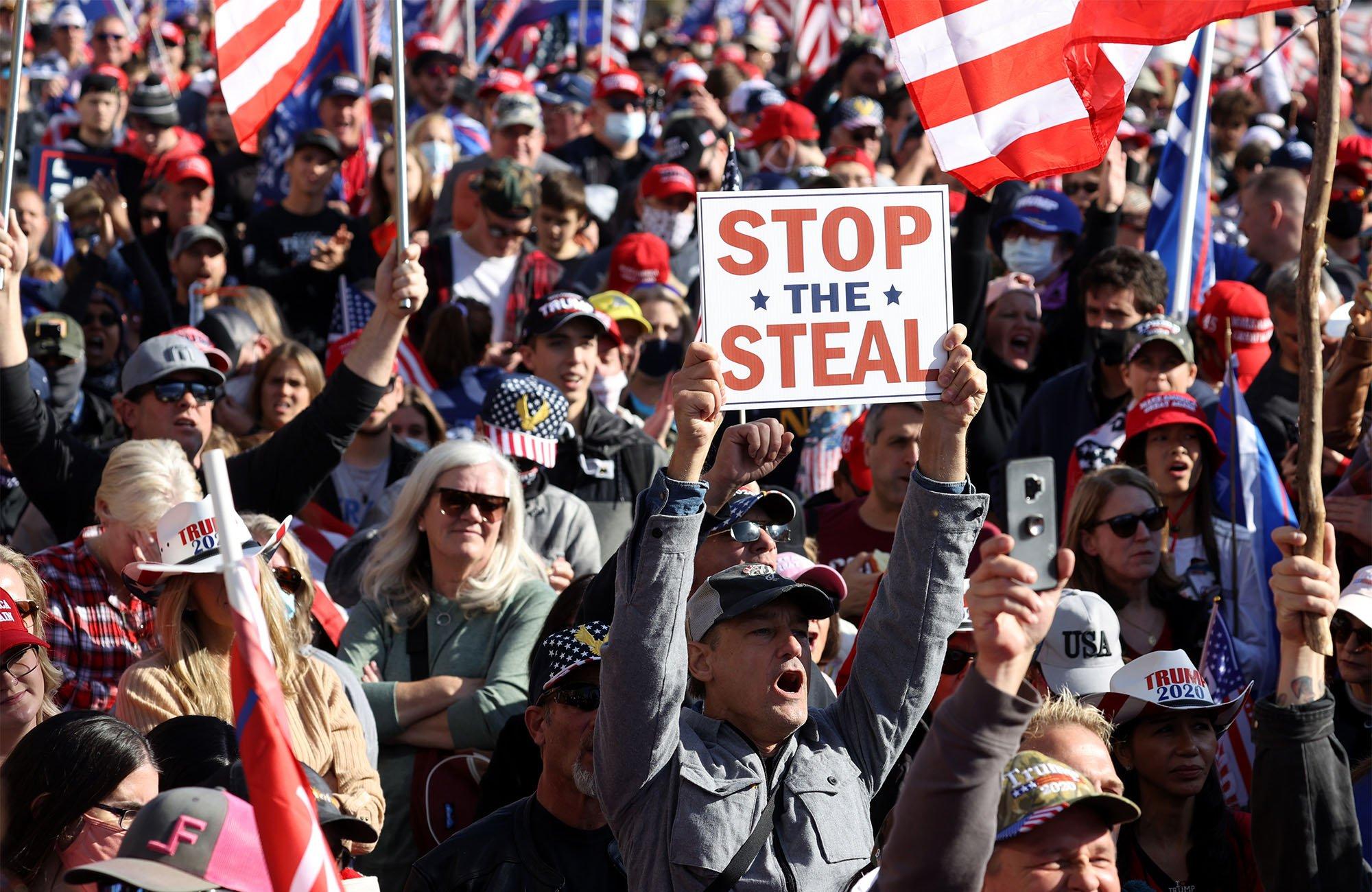 Protesta de los seguidores de Trump en Washignton el 14 de noviembre.