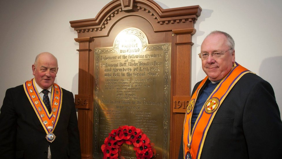 War memorial unveiled after Donegal Orange hall fire