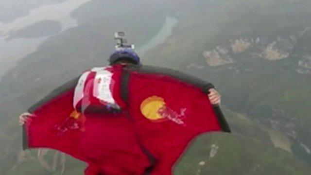 wingsuit flier