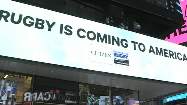 Rugby advert in Times Square
