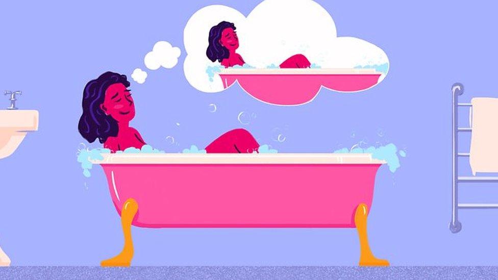 Ilustración mujer autosexual.