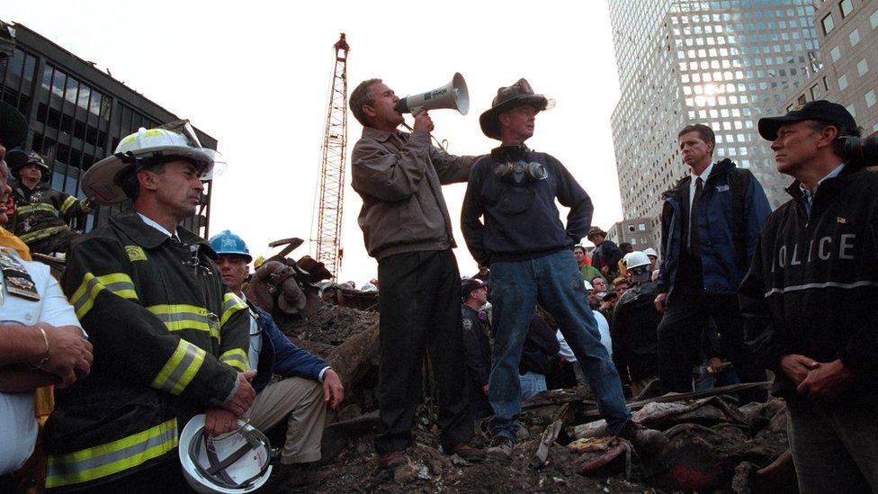 Bush en Ground Zero