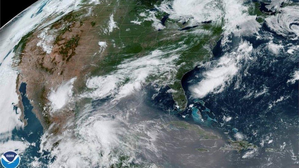 Una imagen del polvo sahariano en América