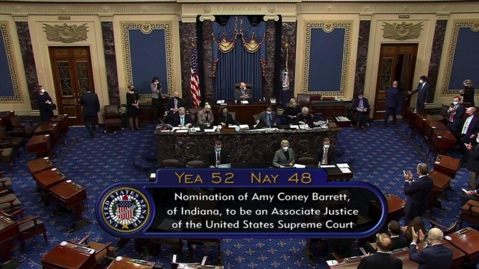 Votación en el Senado de Barrett