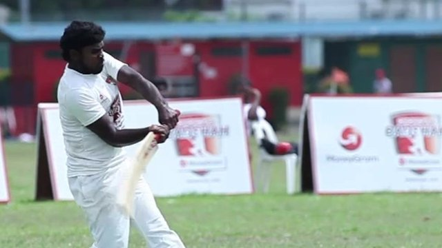 Cricket player in Singapore