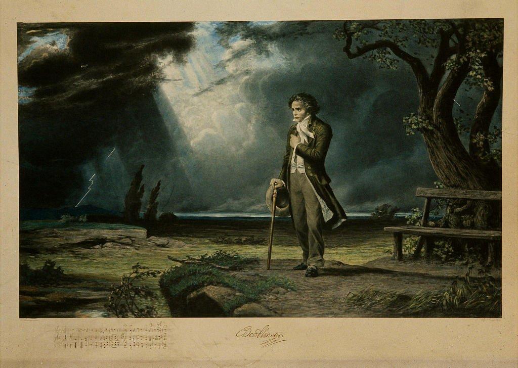 Imagen de Ludwig van Beethoven encontrada en la Colección de la Filarmónica de París.