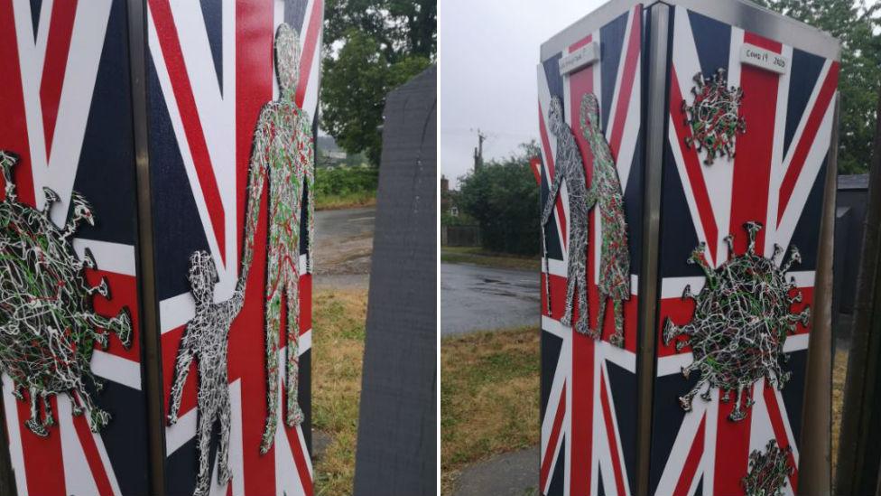 Artwork on phone box