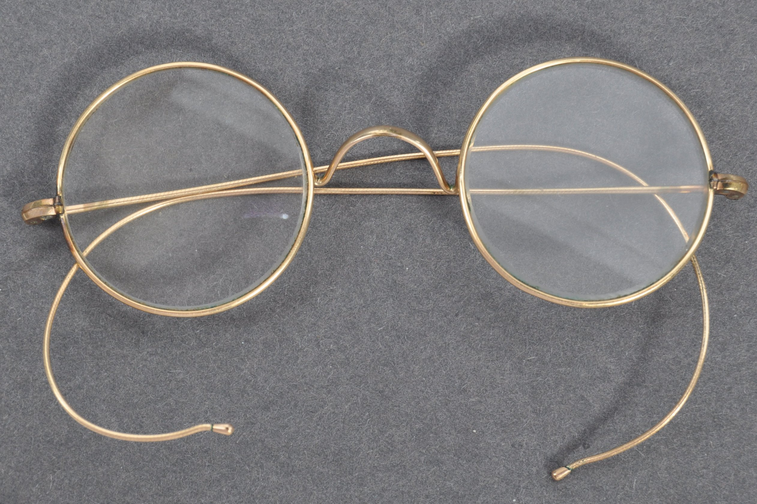 The glasses which once belonged to Gandhi