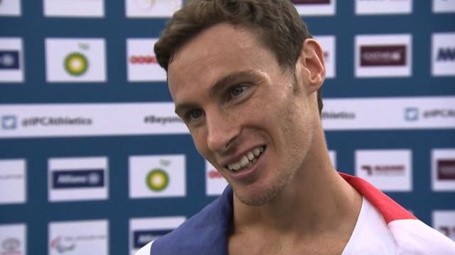 Paul Blake celebrates winning World Championship silver