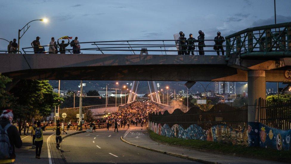 Viaducto en la ciudad de Pereira.
