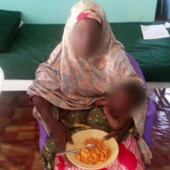 Chibok girla and baby