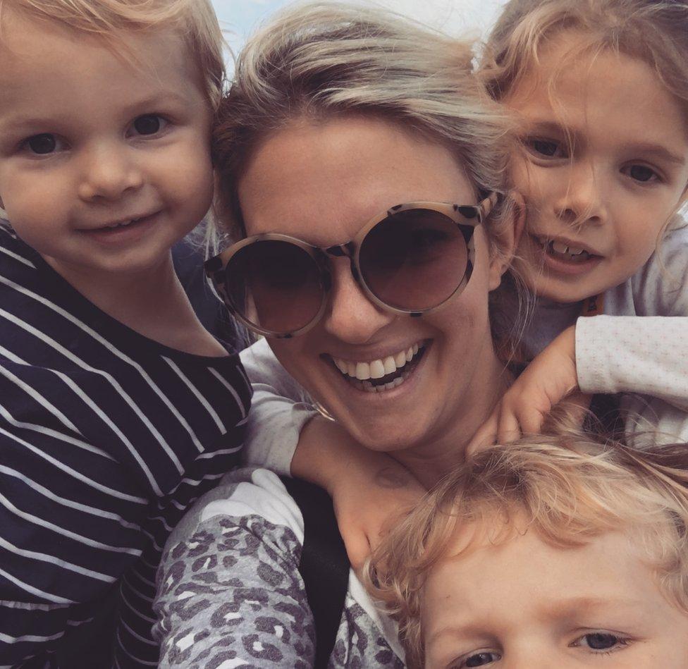 Hattie Harrison with her three kids