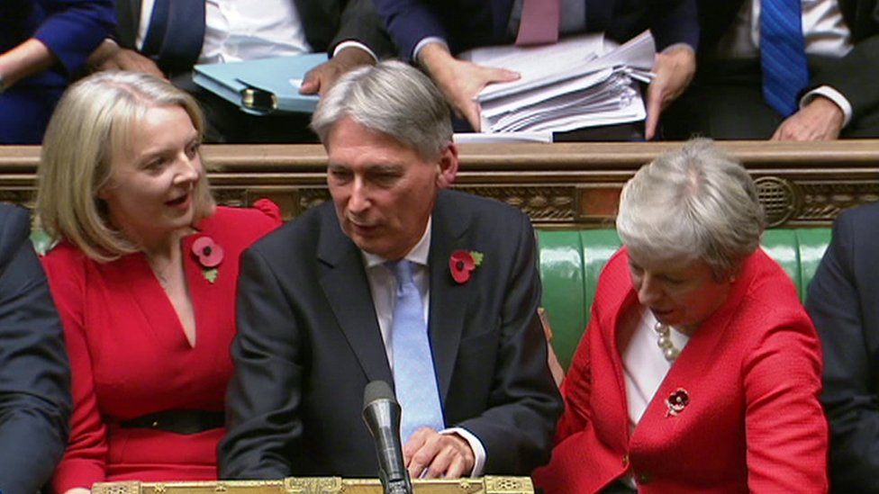 Phil Hammond, Liz Truss and Theresa May