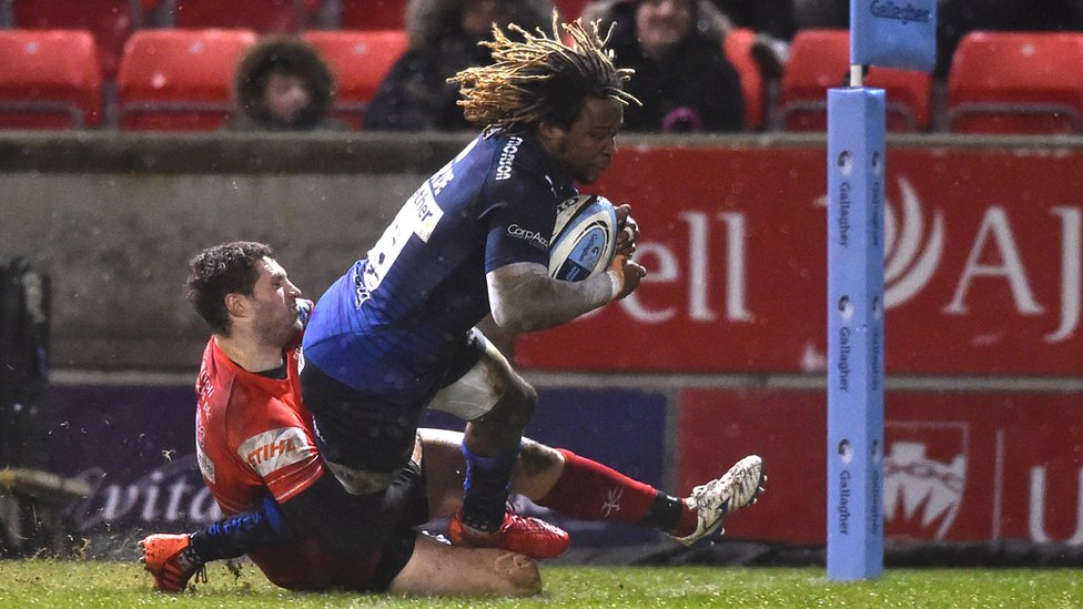 Marland Yarde playing for Sale Sharks