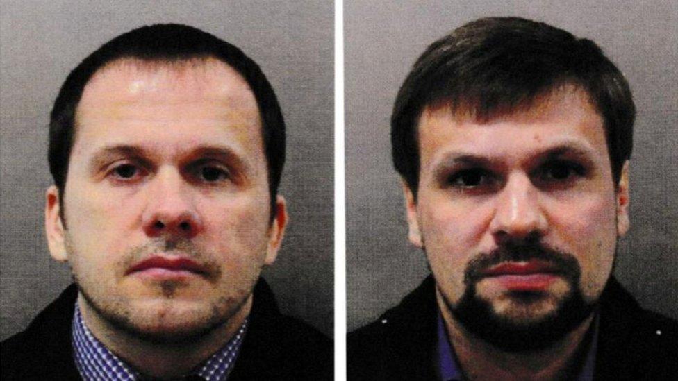 """""""Alexander Petrov"""" (izquierda) y """"Ruslan Boshirov"""""""