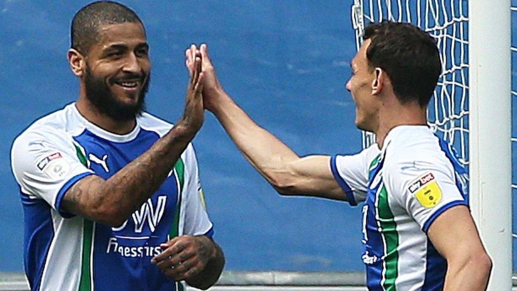 Wigan Athletic 2-0 Preston North End: Leon Clarke & Lee Evans goals seal Latics' survival