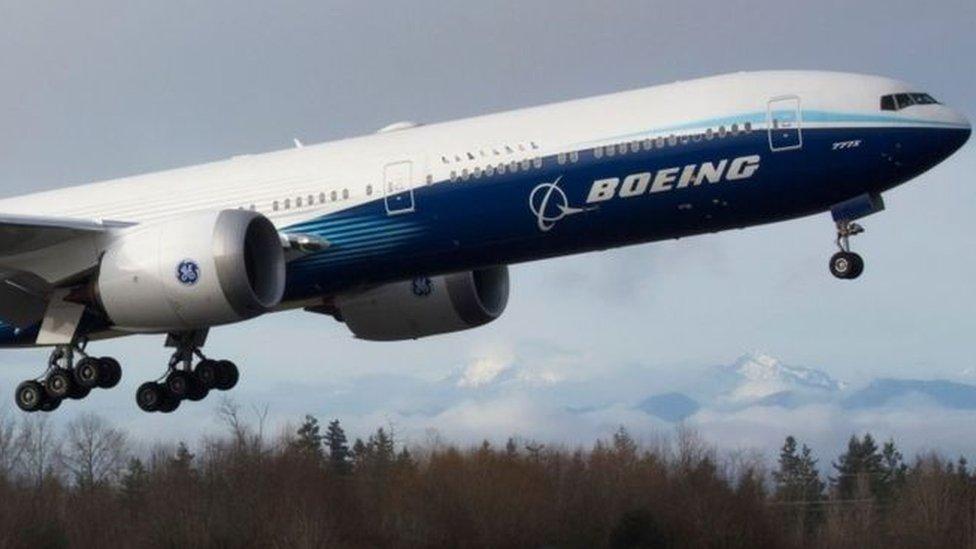 طائرة من طراز بوينغ 777. صورة أرشيفية