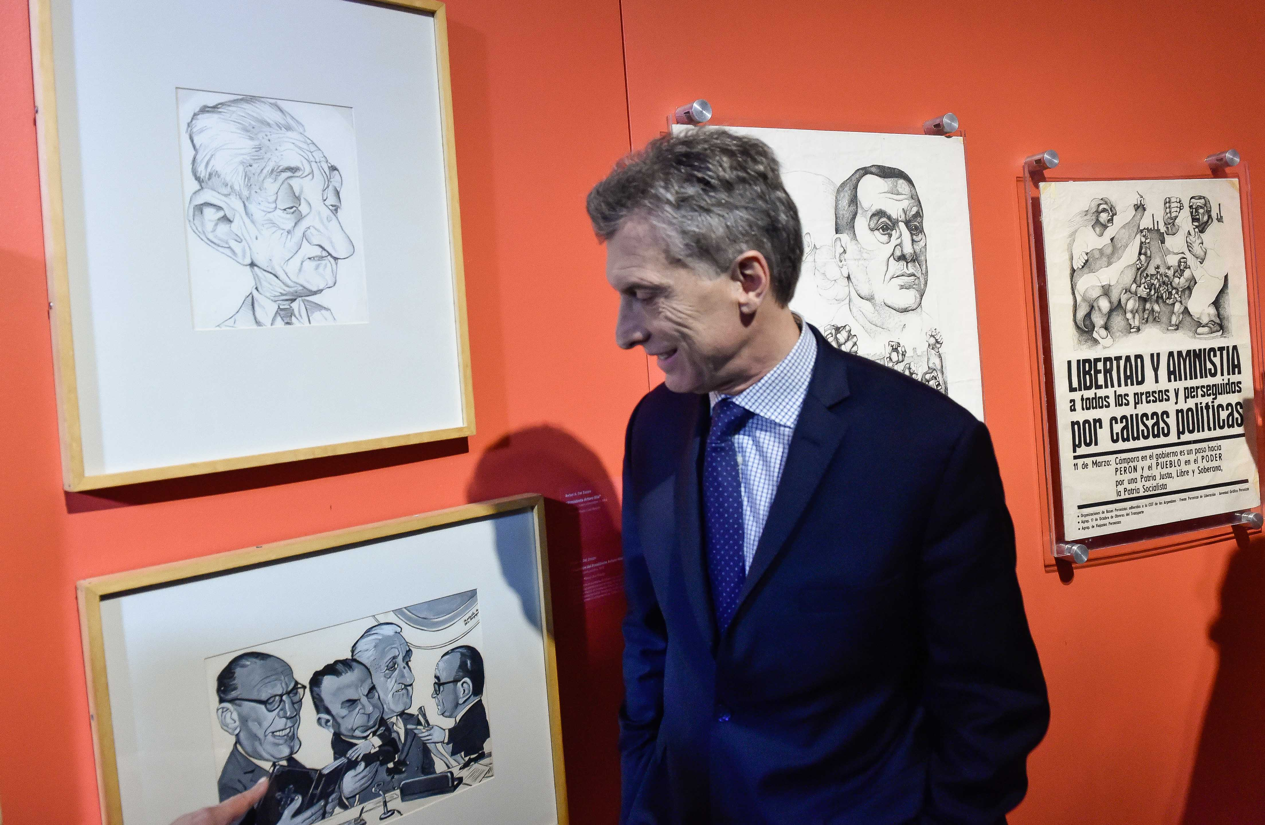 President Mauricio Macri at the re-opening of the Casa Rosada Museum