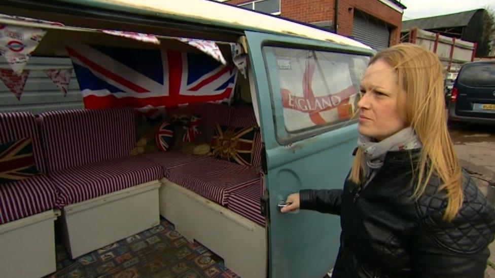Kerry Adams with her new campervan