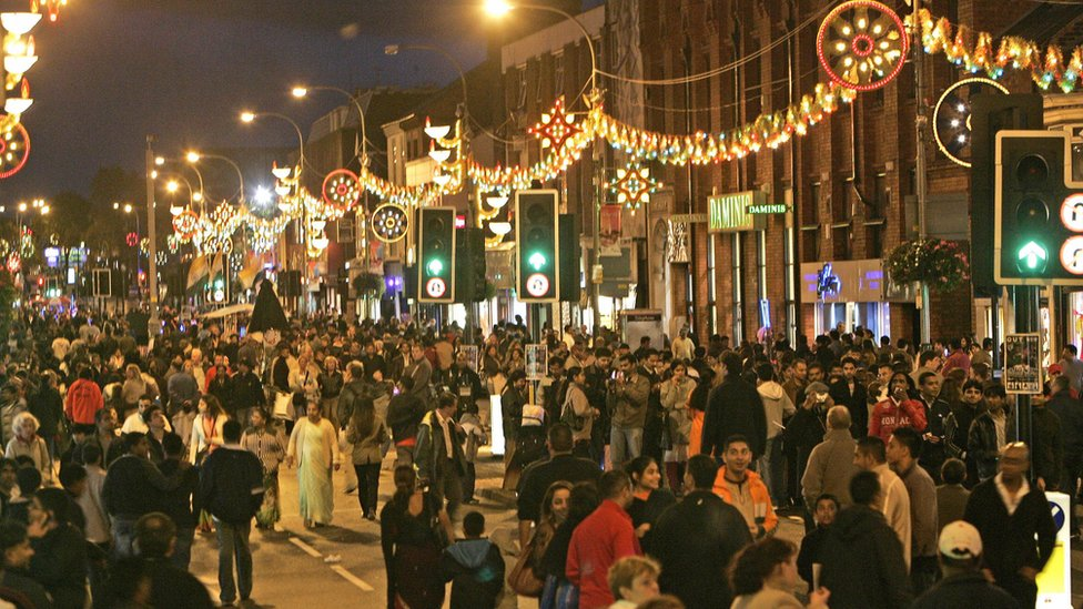 Diwali celebrations in Leicester