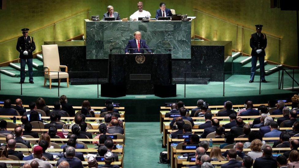 Trump ante la asamblea general