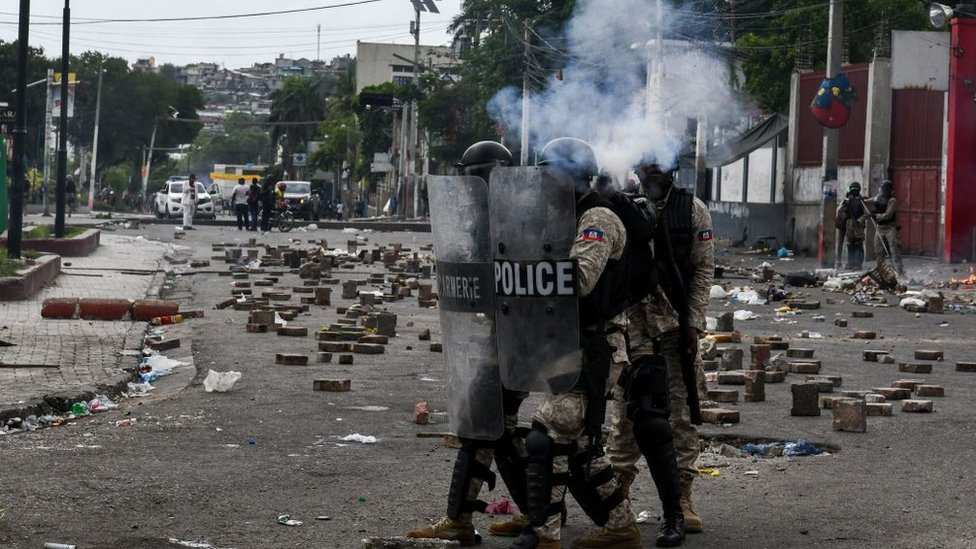 Protesta en Haiti