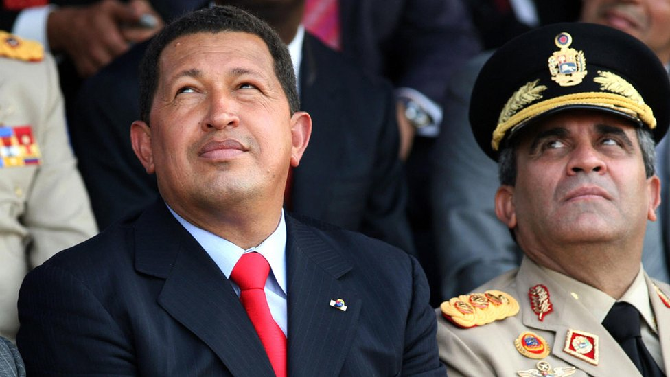 Chávez y Baduel.