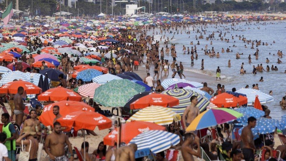 Rio de Janeiro'da bir plaj