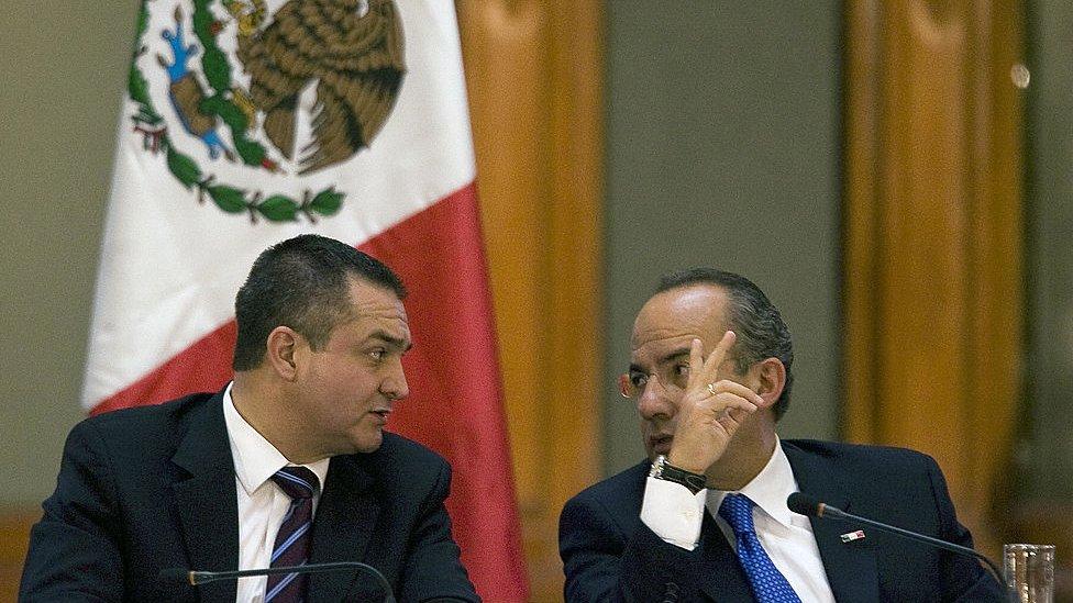 Genaro García luna y Felipe Calderón