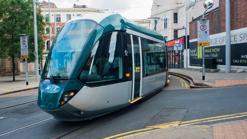 Keolis tram in Nottingham