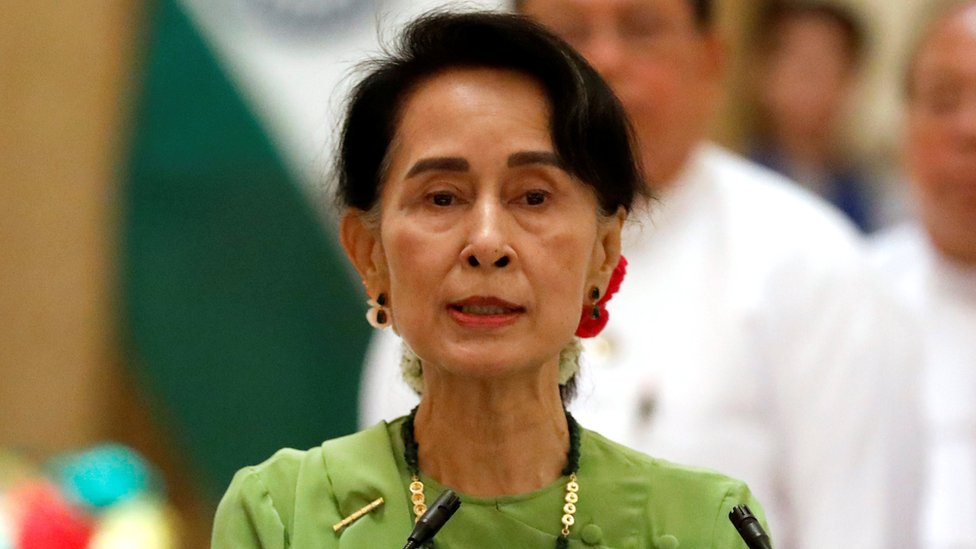 Aung San Suu Kyi pictured in 2017