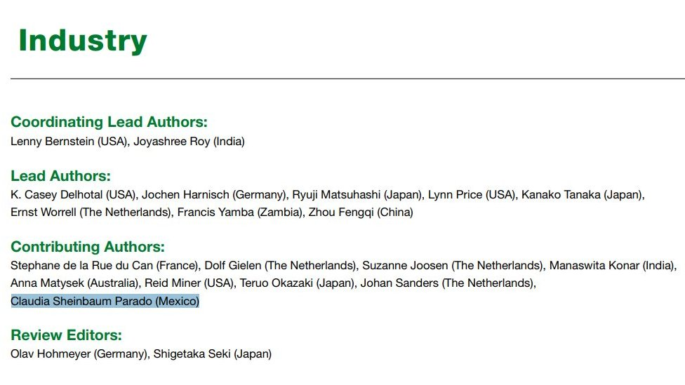 """Capítulo 7 del informe """"Mitigación del Cambio Climático"""" de 2007 publicado por el IPCC."""