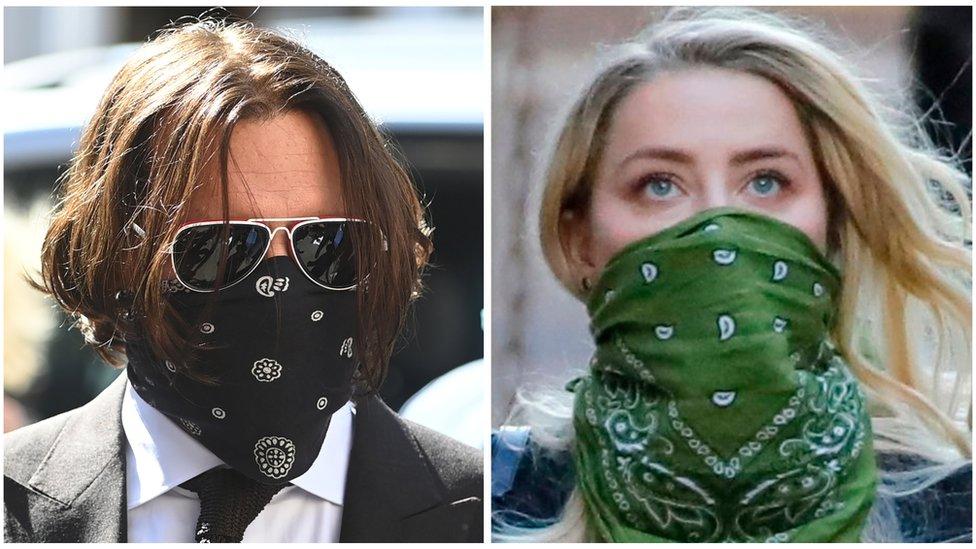 Johnny Depp y Amber Heard