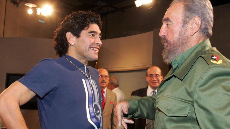 Maradona y Castro en 2005.