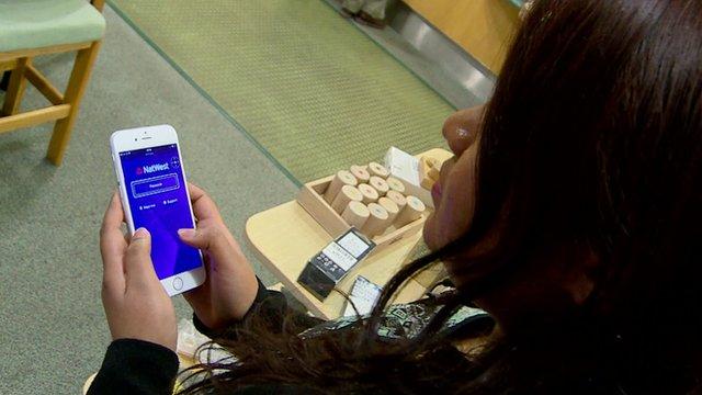 Sabeena DeSaram using app