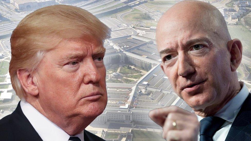 Trump y Bezos