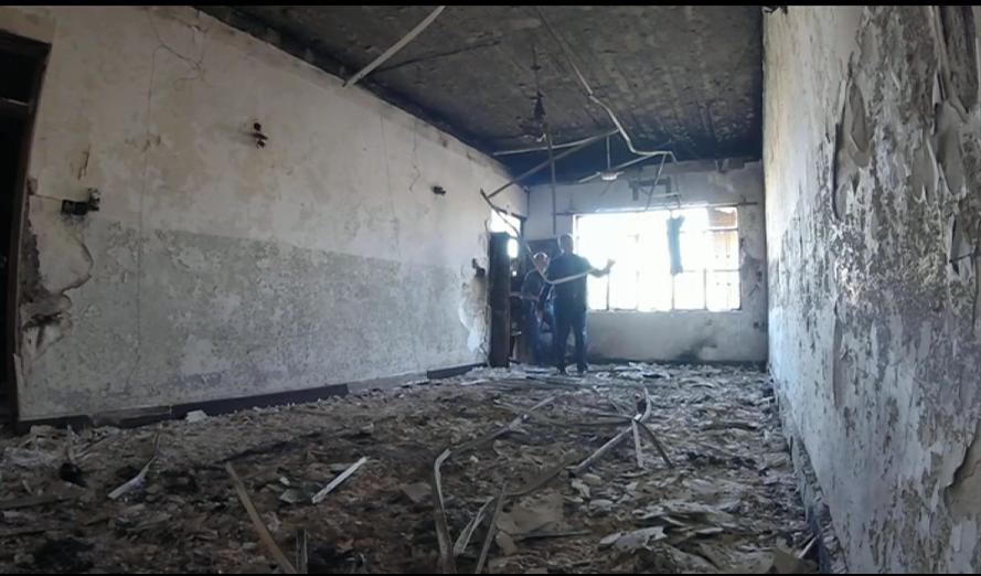أحرق مسلحو تنظيم الدولة معظم محتويات البيت