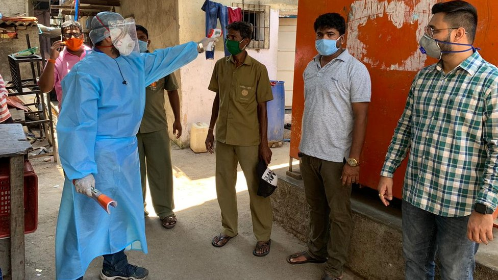 Patients being screened in Mumbai