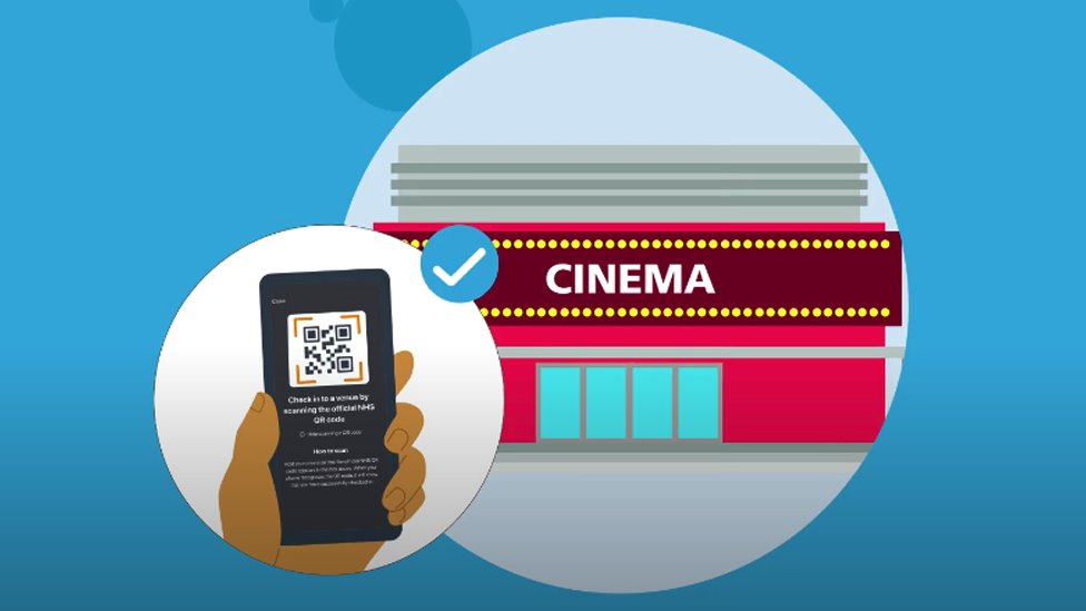 Cinema QR barcode check-in