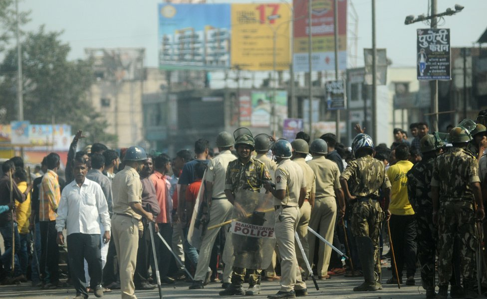 Violence broke out during celebrations to commemorate the 200th anniversary of a battle in Bhima Koregaon