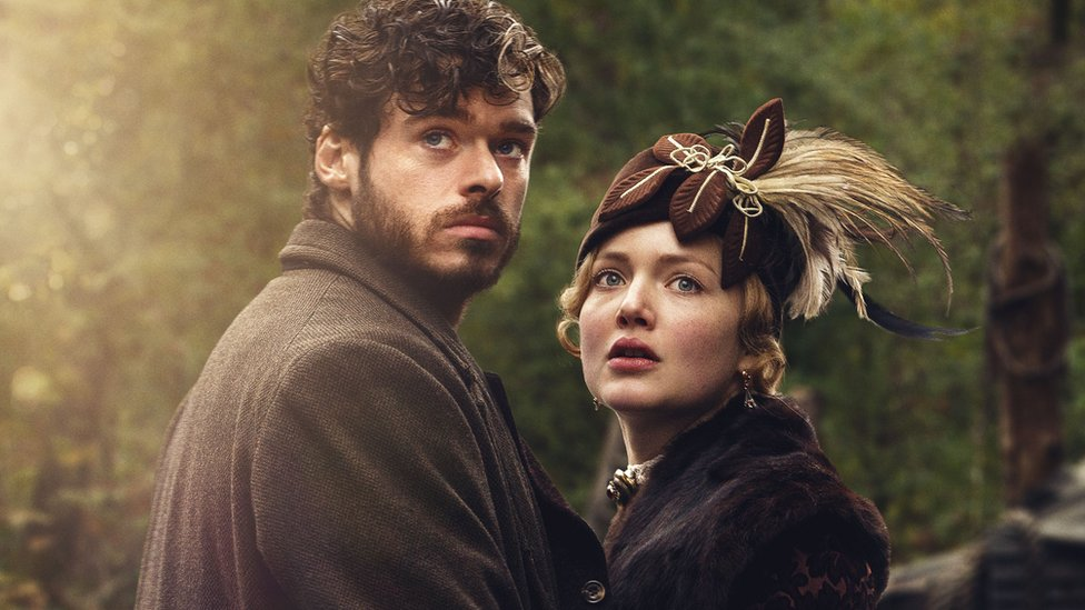Richard Madden as Oliver Mellors and Holliday Grainger as Constance Chatterley in Lady Chatterley's Lover