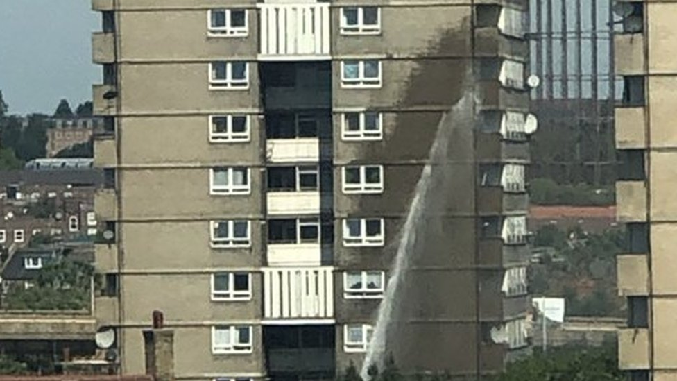 Darfield Way in Notting Hill, the London Fire brigade said.