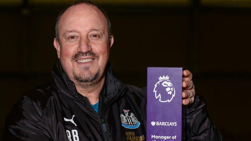 Newcastle's Rafael Benitez wins Premier League manager of the month