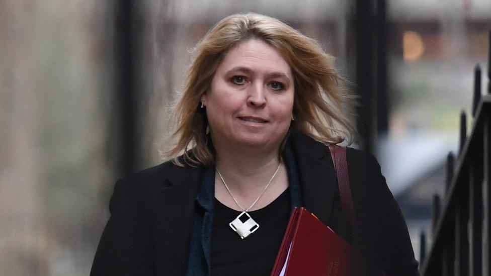 Northern Ireland Secretary Karen Bradley arriving at 10 Downing Street, London, for a cabinet meeting